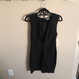Toni Plunge Dress with Choker
